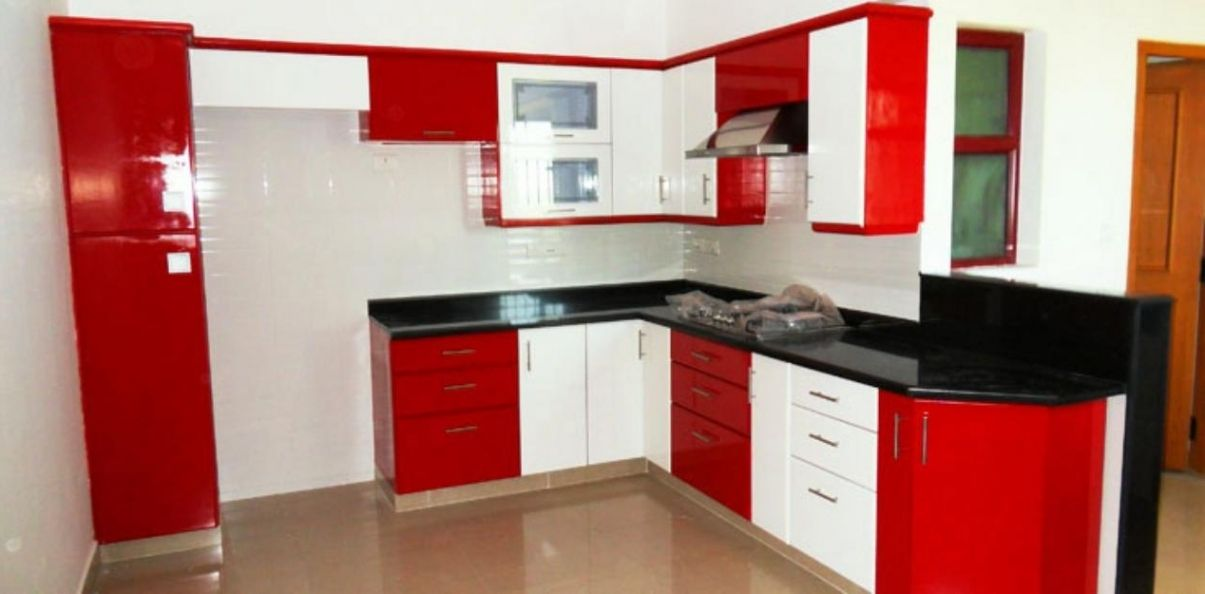 Black White And Red Kitchen Design Freshouz Com Red And White Kitchen Cabinets Kitchen Design Small Kitchen Interior