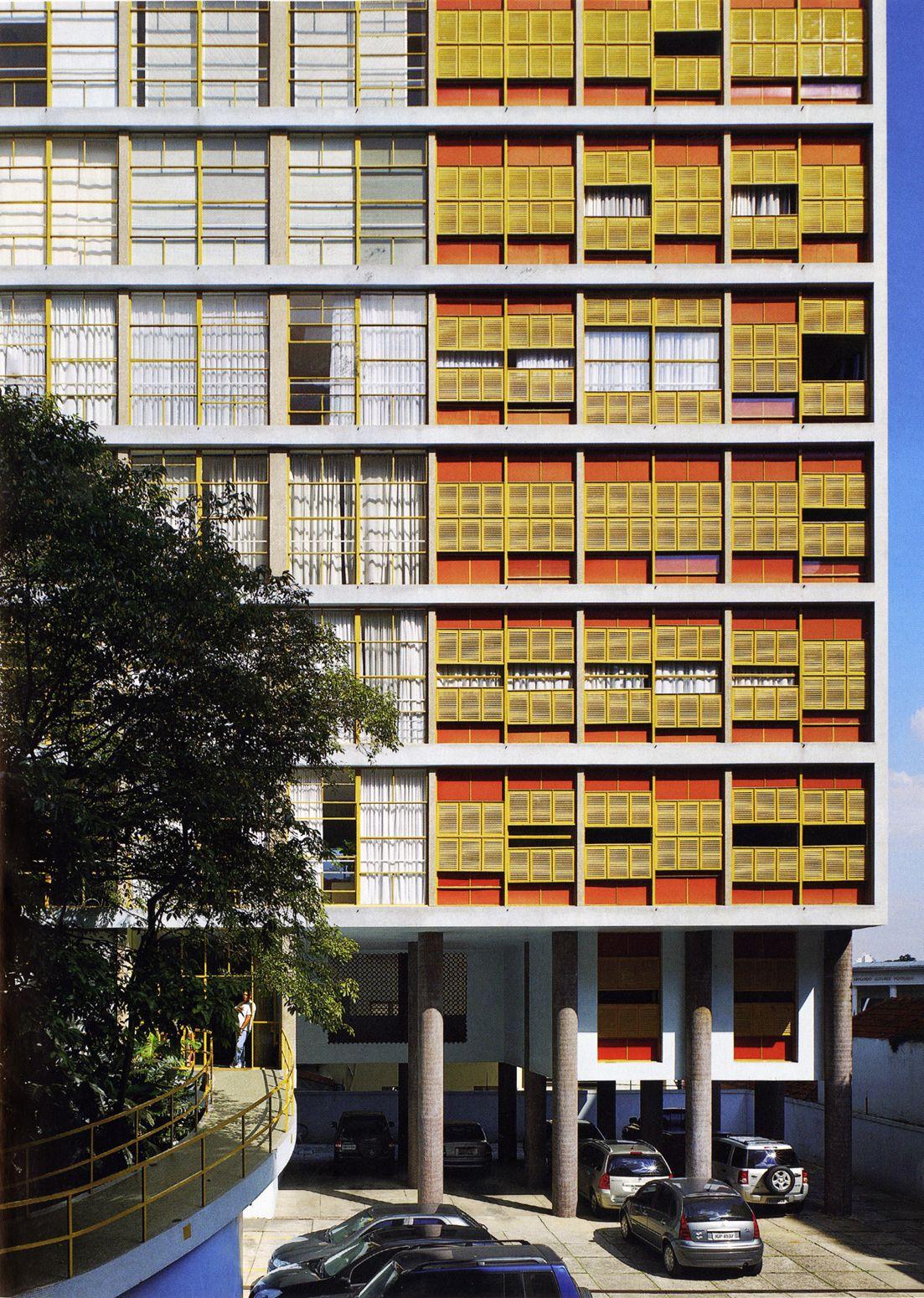 Moderne wohnarchitektur joão vilanova artigas  louveira building são paulo   hab