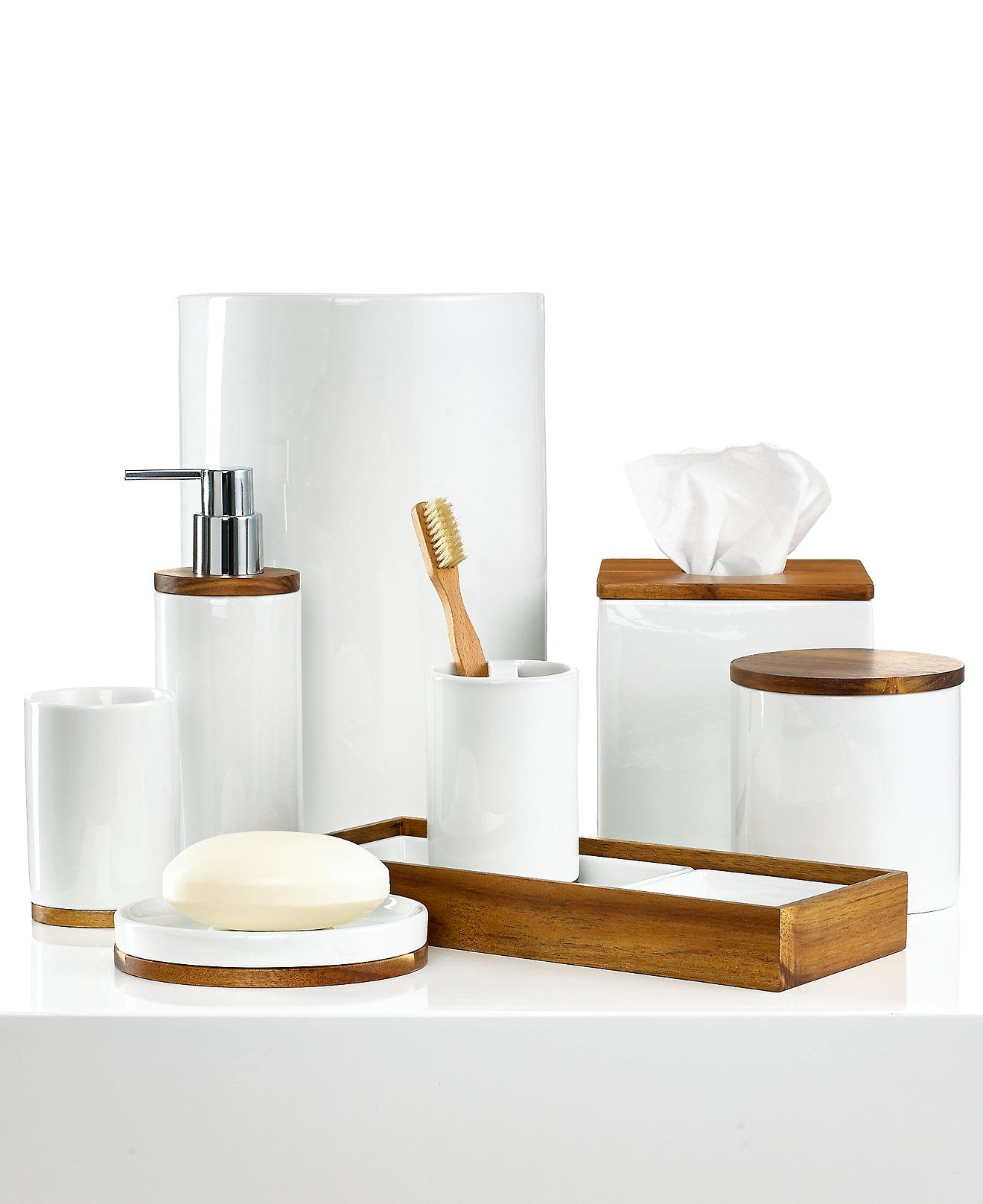 Hotel collection century bath accessories collection for Bathroom accessories collection