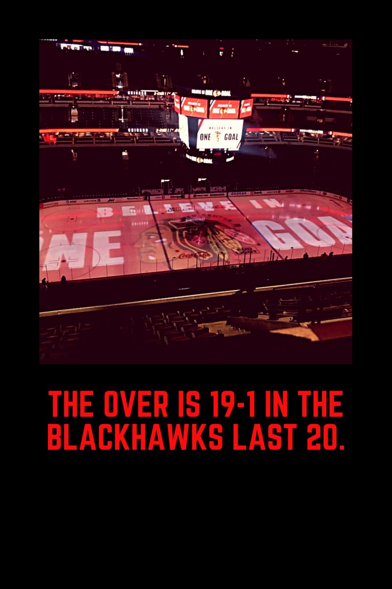Chicago Blackhawks Have Gone Over In 19 Of Their Last 20