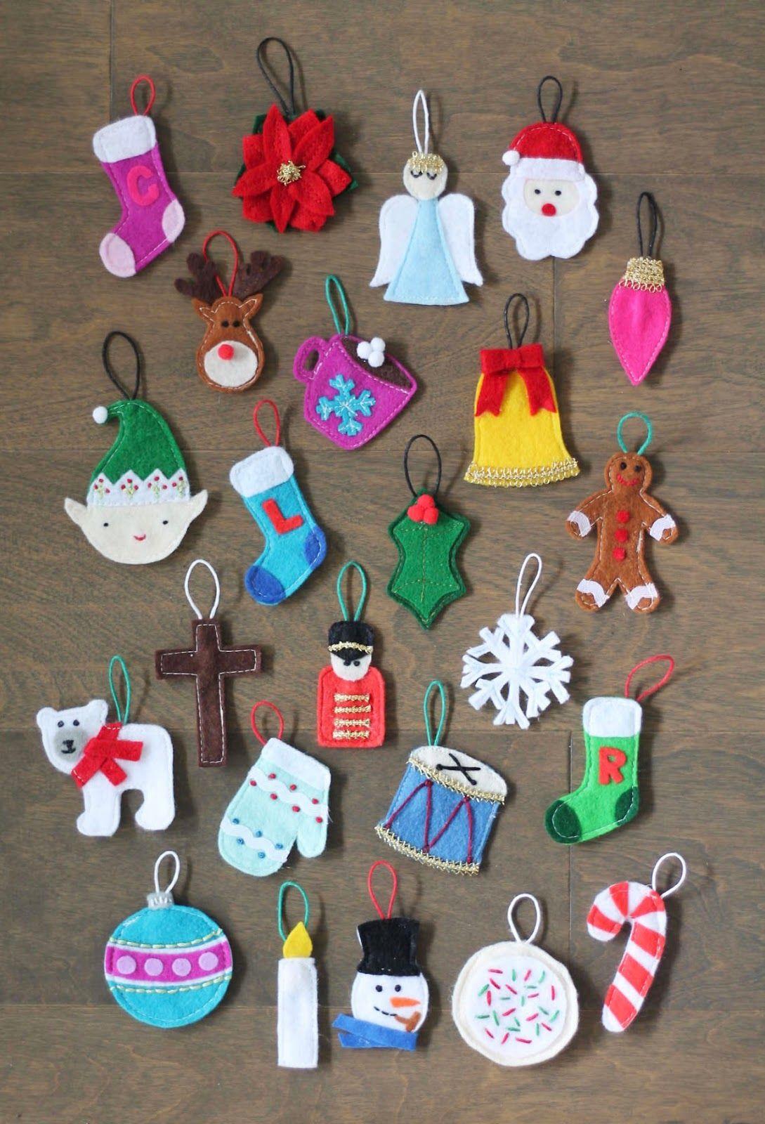 Felt Ornament Advent Calendar