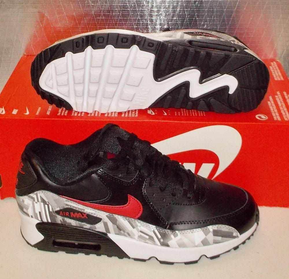NIKE AIR MAX 90 PRINT LTR Leather Womens 7.5 (6Y) 844602 001