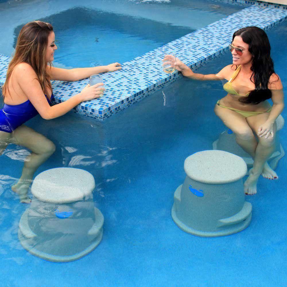 Create Swim Up Bar Seating with Liquidseat | POOL SEAT swim ...