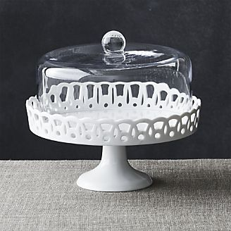 Sophia Cake Stand with Glass Dome @ Crate and Barrel $39.95
