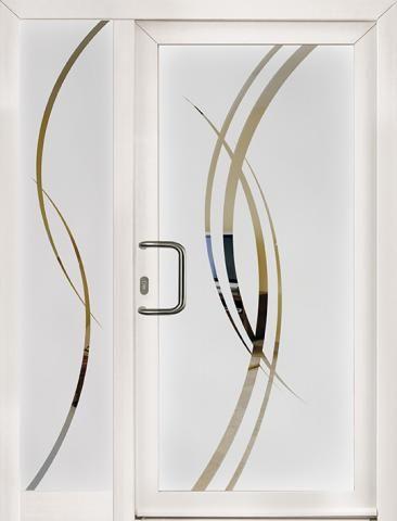 Porte d 39 entr e vitr e motif sablage recherche google - Vitre pour porte d entree ...