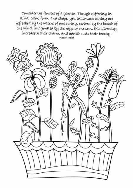 Inspiration From Bahai Colouring Pages Bahai Children Coloring