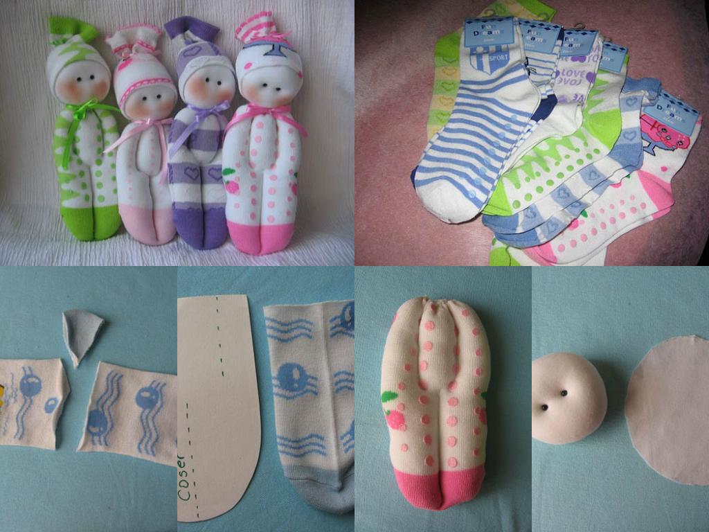 Mu ecos hechos con calcetines pasteles pinterest - Hacer munecos con calcetines ...
