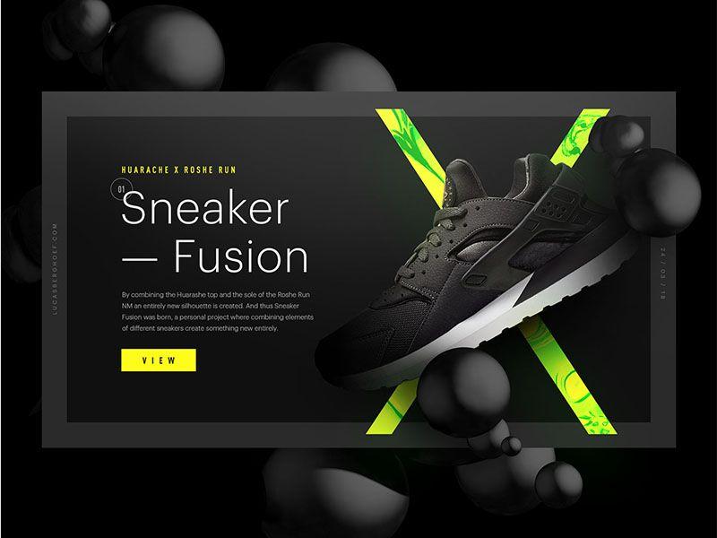 Sneaker Fusion Huarache X Roshe Run Nm Web Layout Design Web Development Design Web Design Inspiration