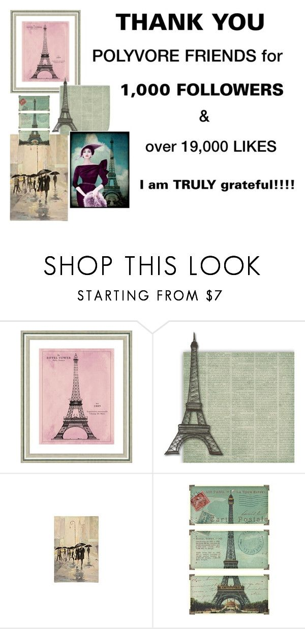 """""""THANK YOU"""" by scolab ❤ liked on Polyvore featuring Vintage Print Gallery, WALL and Uttermost"""