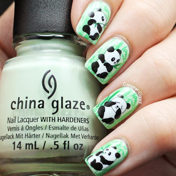 I find an excellent product on @BornPrettyStore, 1Sheet Cute Panda ...