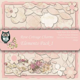 Rose Cottage Charms Elements Pack 1 €2.50