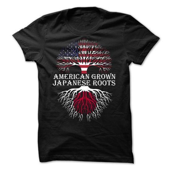 American Grown - Japanese Roots T Shirts, Hoodies Sweatshirts. Check price ==► http://store.customtshirts.xyz/go.php?u=https://www.sunfrog.com/States/American-Grown--Japanese-Roots.html?41382