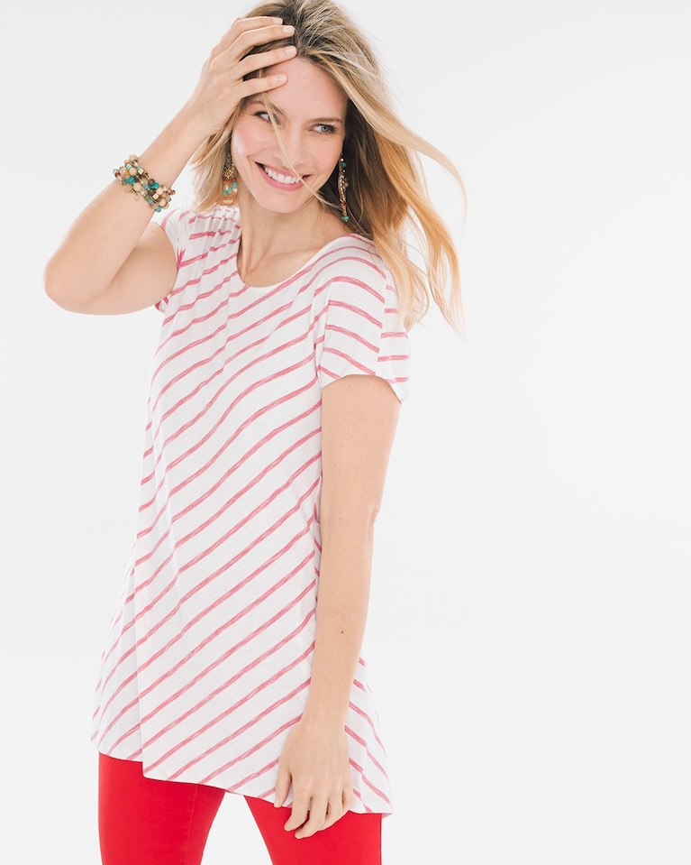 6990f4573e Chico s Women s Striped Cross-Back Tee