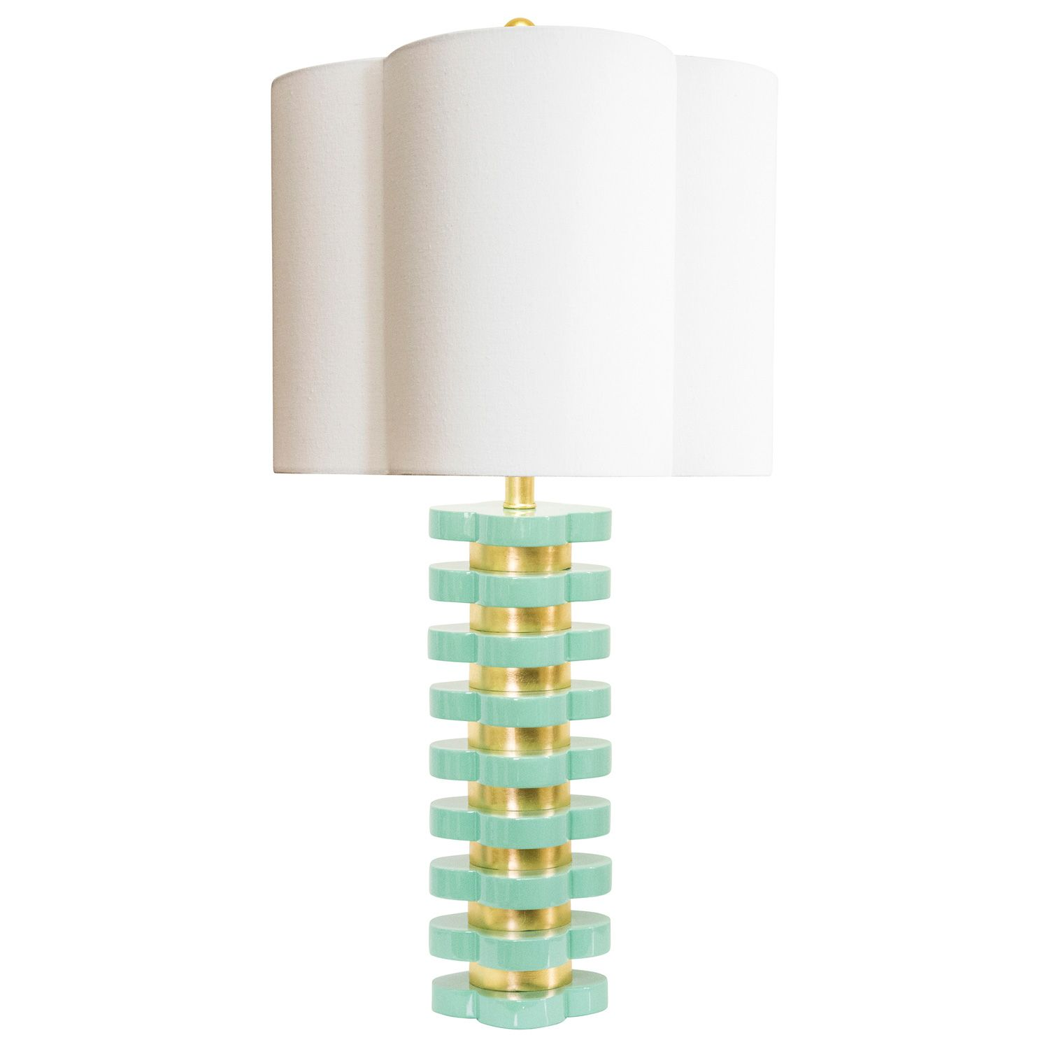 Couture Lamps Quatrefoil Mint Table Lamp Laylagrayce Lighting