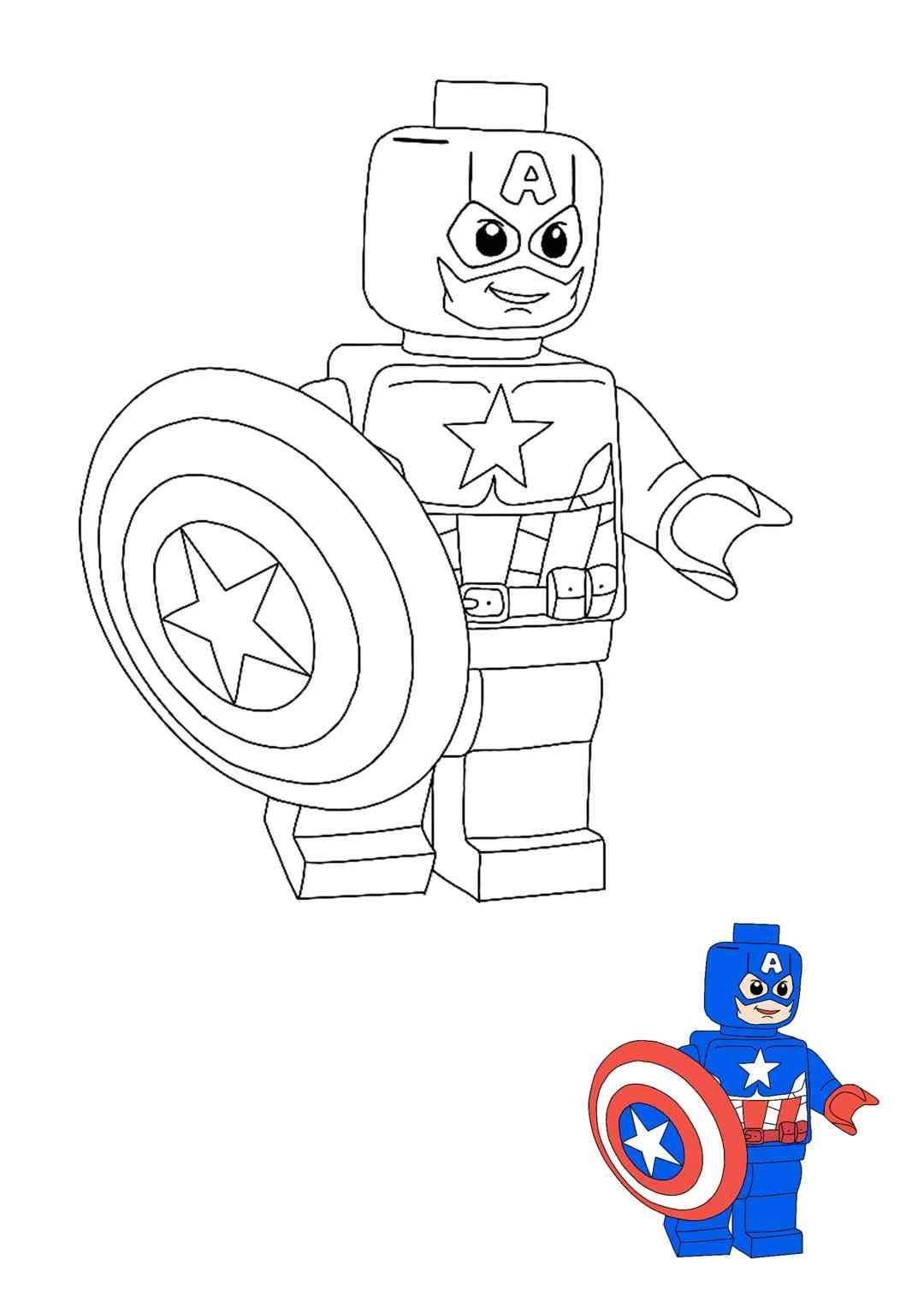 Lego Captain America Coloring Pages In 2020 Captain America Coloring Pages Free Printable Coloring Sheets Free Printable Coloring