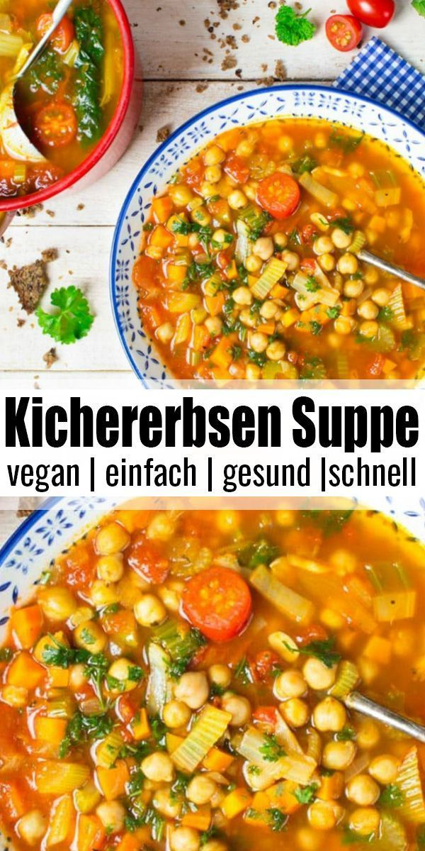 Photo of Italienische Kichererbsen Suppe