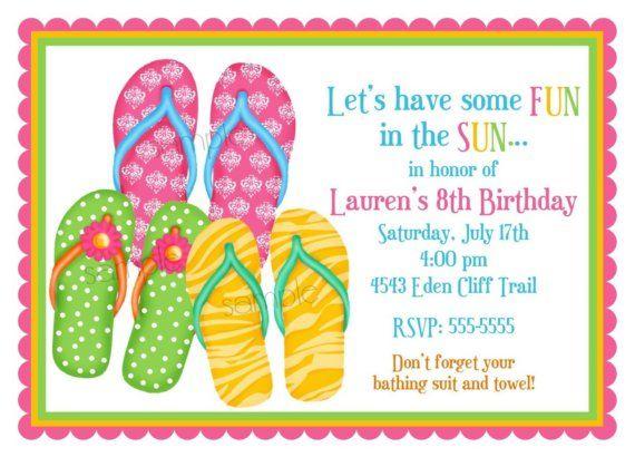 d13111531 Flip Flop Invitations