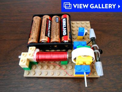 Easy to build quiklock kits weird science pinterest for Simple electric motor science project