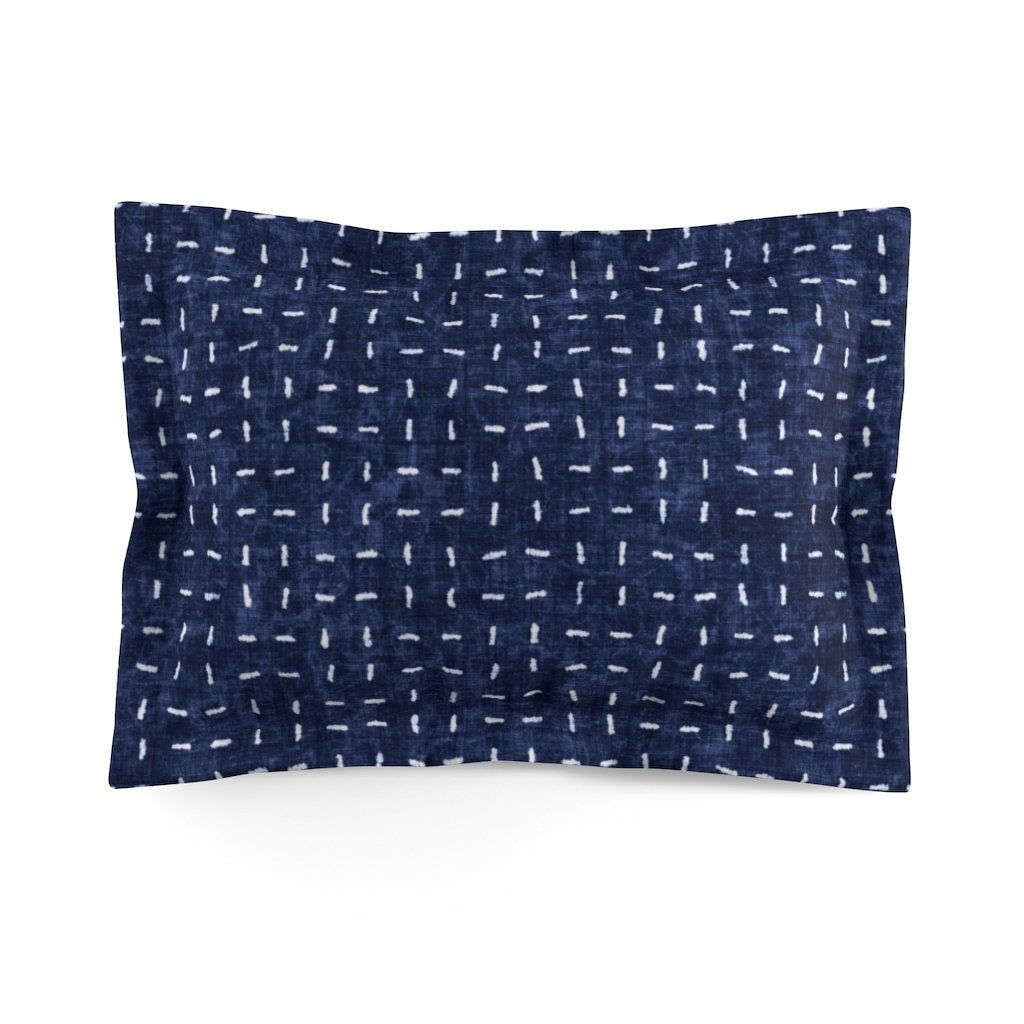 Navy Blue Pillow Sham - Boho Pillow Cover -Bedding - King - Queen - Standard Pillow Case - Bohemian Bed Decor