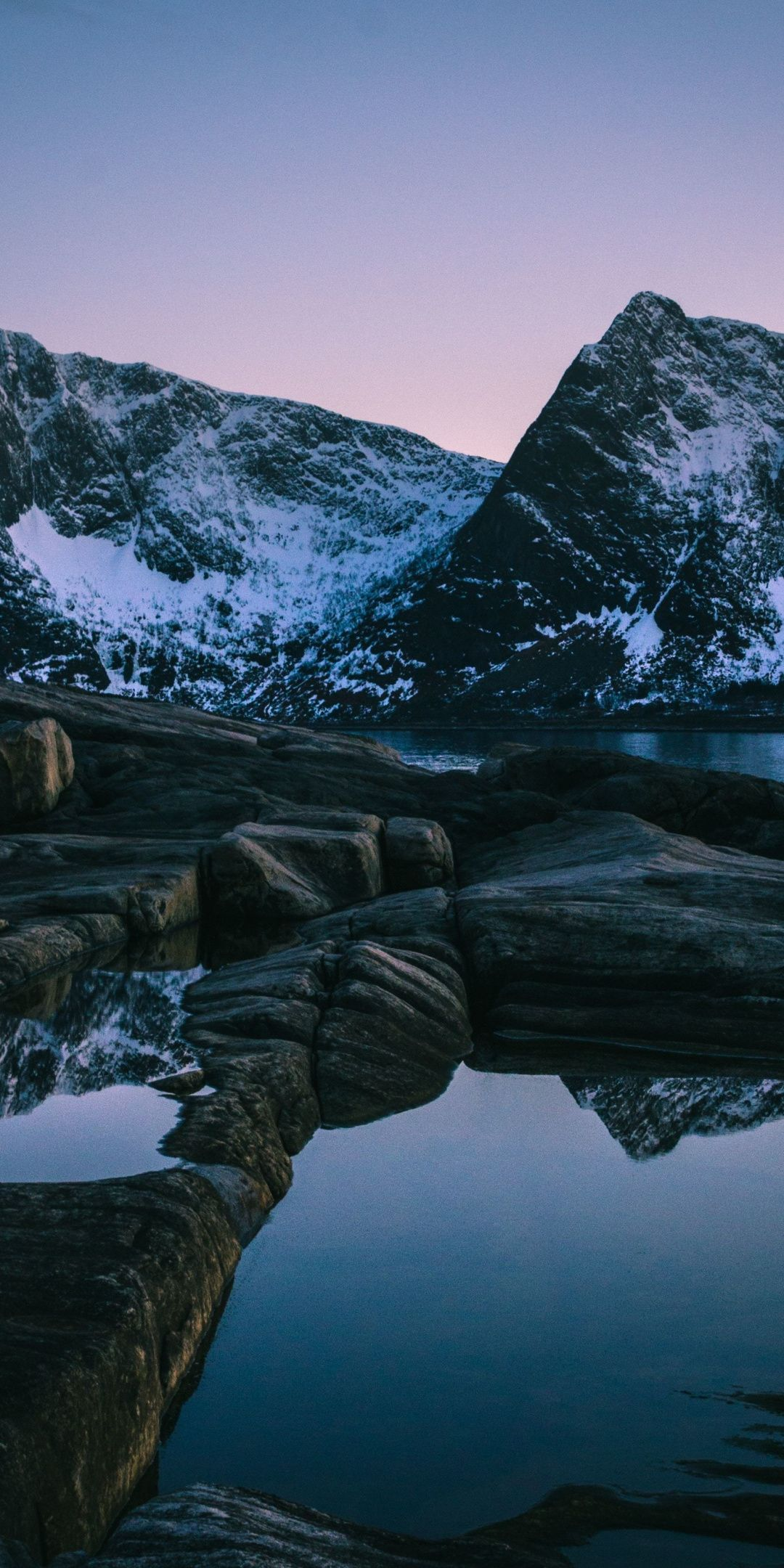 Evening, sunset, lake, mountain, nature, 1080x2160 wallpaper | Nature, Natural Wallpapers in 2019 | Norway wallpaper, Mountain wallpaper, Wallpaper