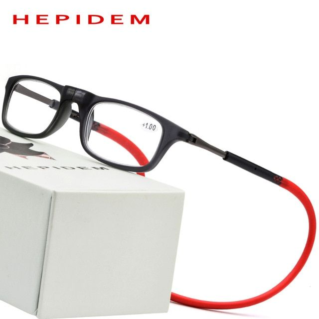 40a23d5b2141 Upgraded Magnet Reading Glasses Men Women Adjustable Hanging Neck Magnetic  Thin Front Presbyopic Eyeglasses 1.00 1.50 Review