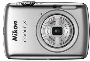Nikon Coolpix S01 Digital Camera, Silver