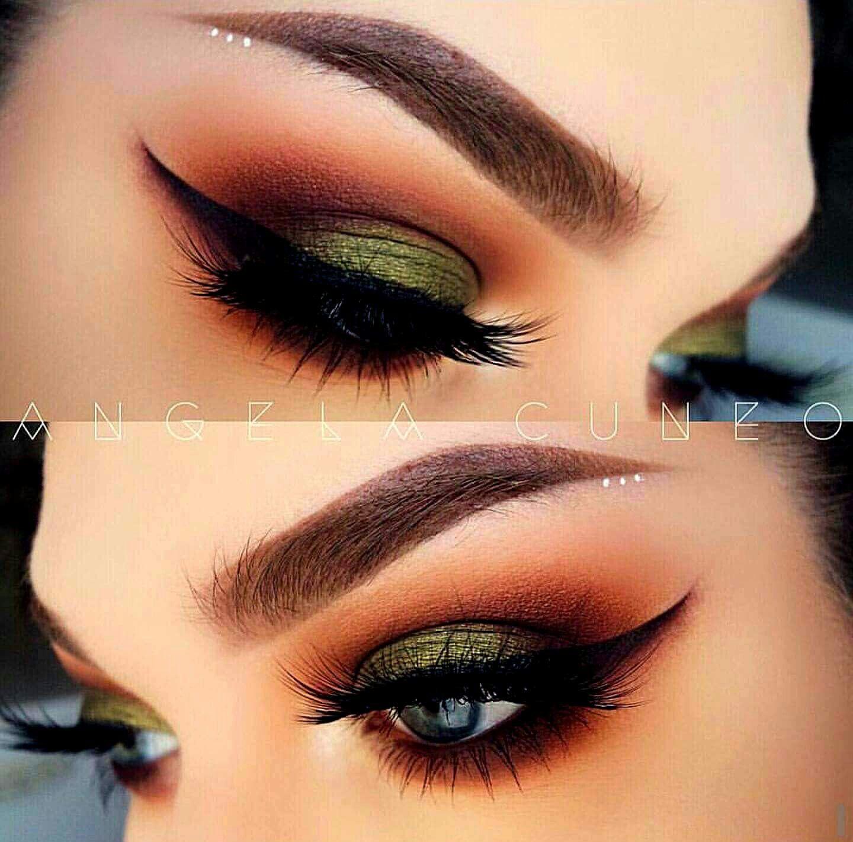Smoked Out Burnt Orange And Green Orange Eye Makeup Fall Makeup Looks Fall Makeup