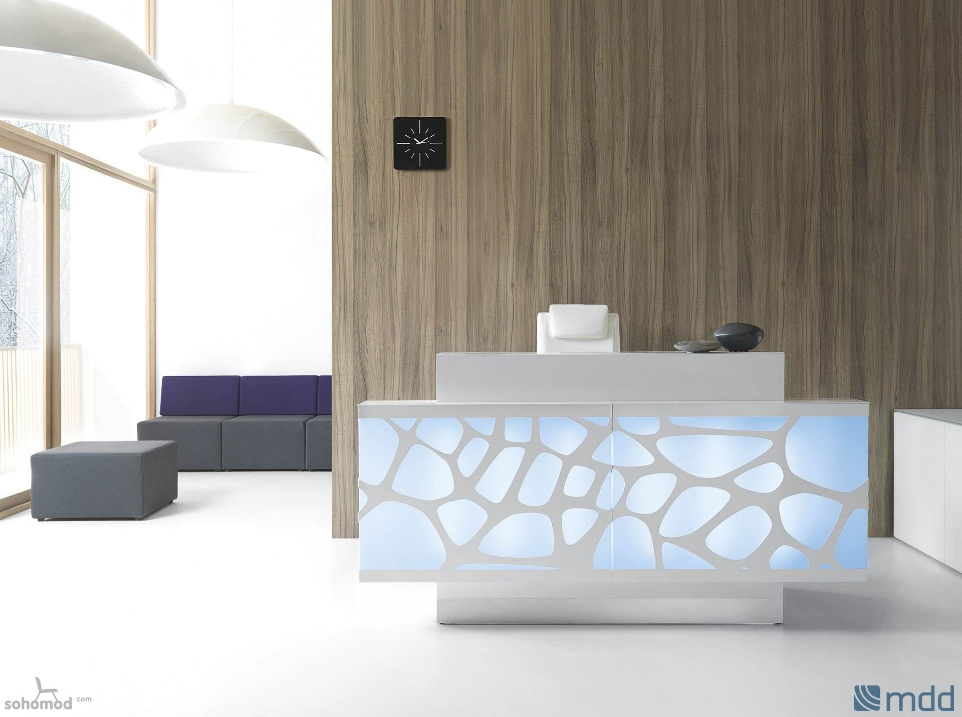 Organic Modern Furniture Modern Organic Linear Shape Reception Desk By Mdd Office Furniture