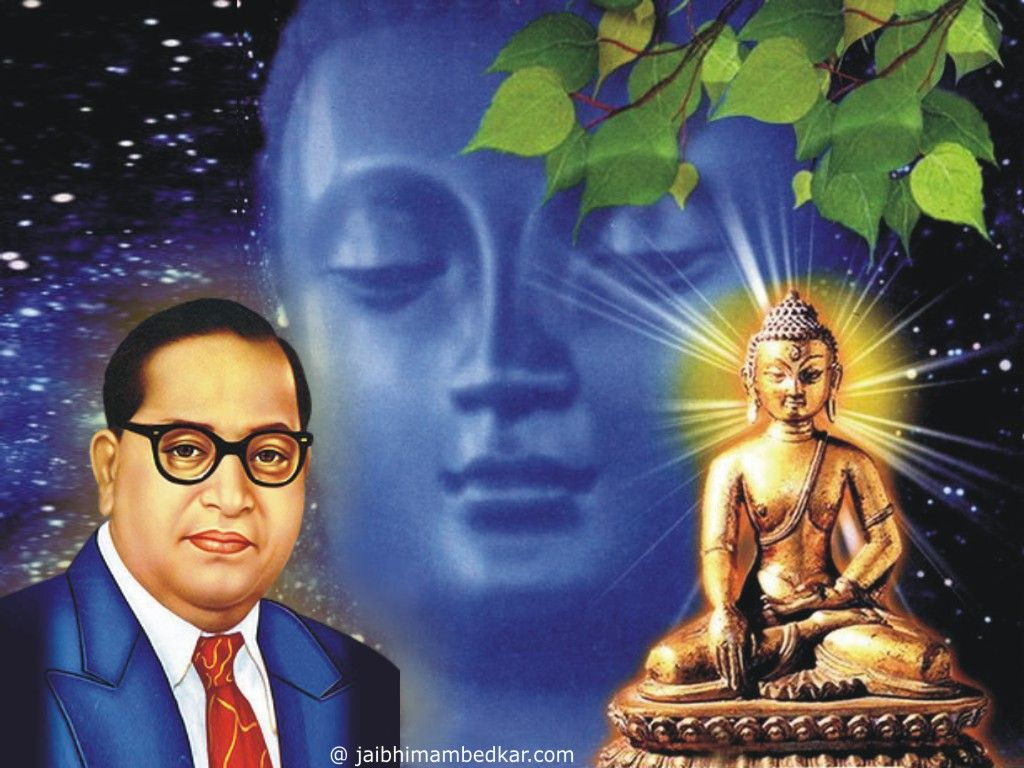 Ambedkar Buddha Wallpaper Wallpaper Free Download Painting