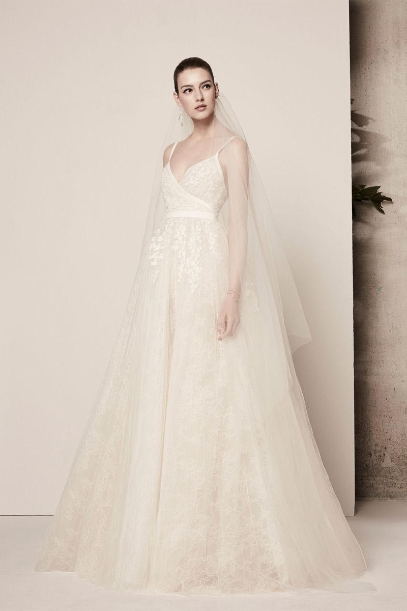 Marking One Year Since The Launch Of His Bridal Collection Designer Elie Saab Continued To Deliver An Elegant Vision For Spring Summer 2018 Season