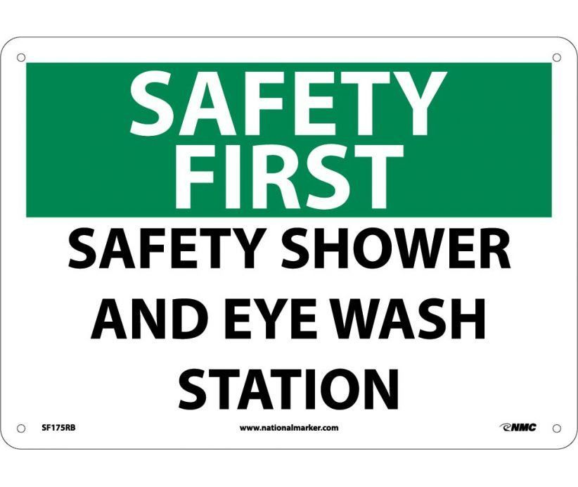 sf175ab national marker osha safety first aid signs first aid signs proper first aid signage is a crucial element to avoid accidents that are waiting to - Eye Wash Station Osha