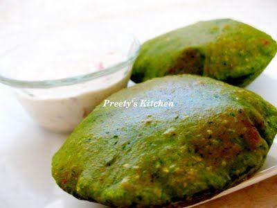 Finger Foods Palak Spinach Poori
