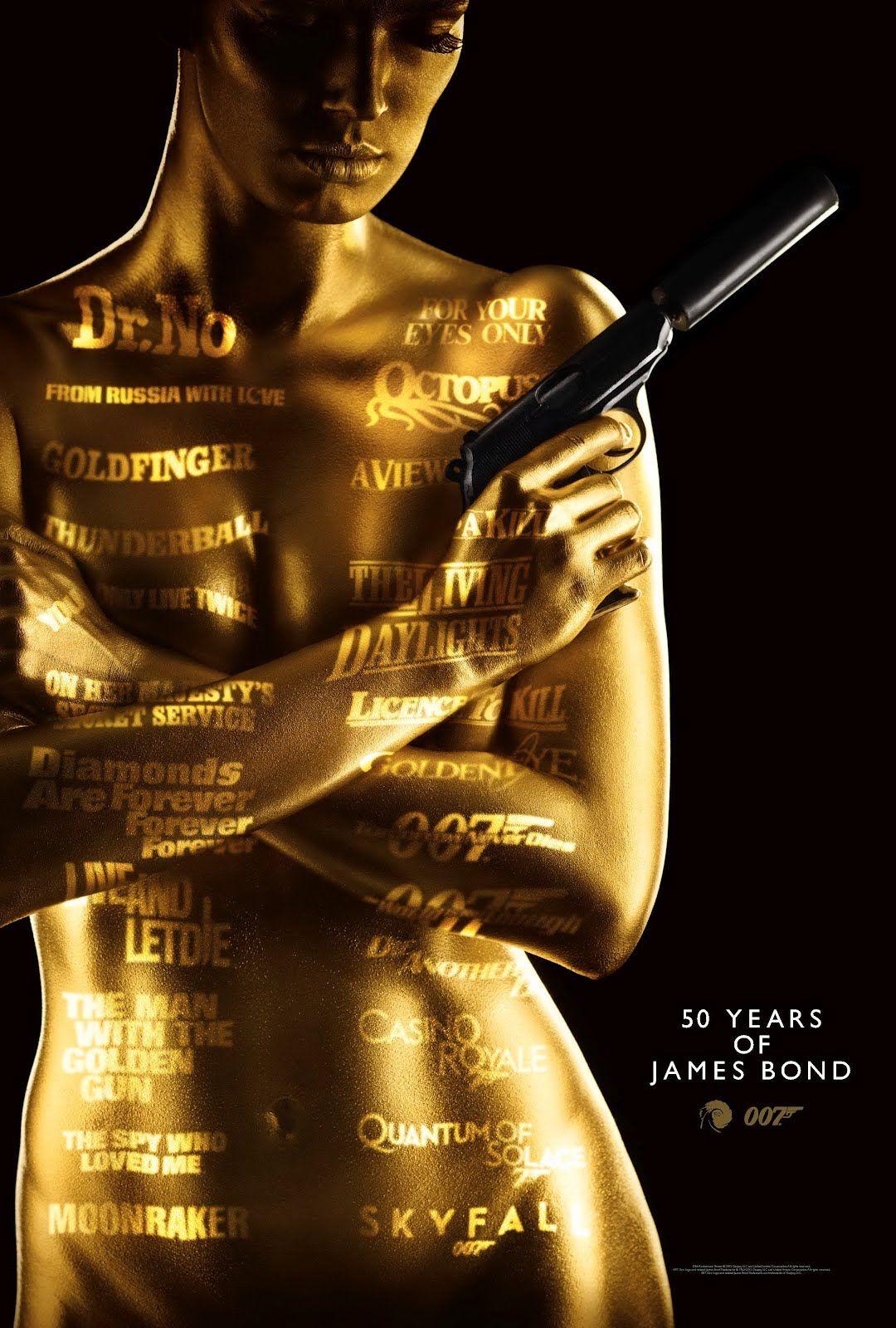 Poster del 50 Aniversario de #JamesBond Feliz Cumpleaños!!!