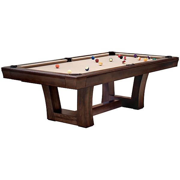 Lipscomb Pool Table With Unique Wood Bottom Design