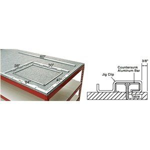 C R Laurence P7924 Crl Screen Table Jig Set By