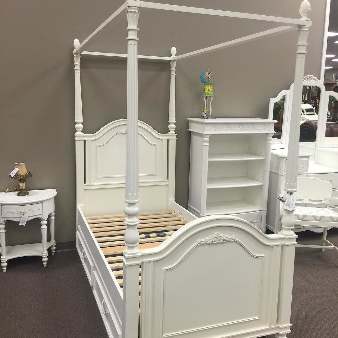 Stanley Twin Canopy Bed with Trundle. Only 575.00 would be perfect