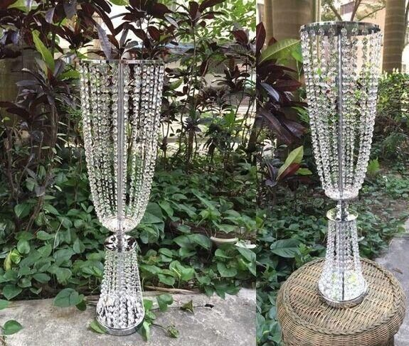 Whole I Tall And Large111 Iron Crystal Plated Vase Metal One Flower Vases For Wedding Decorating Party Decoration