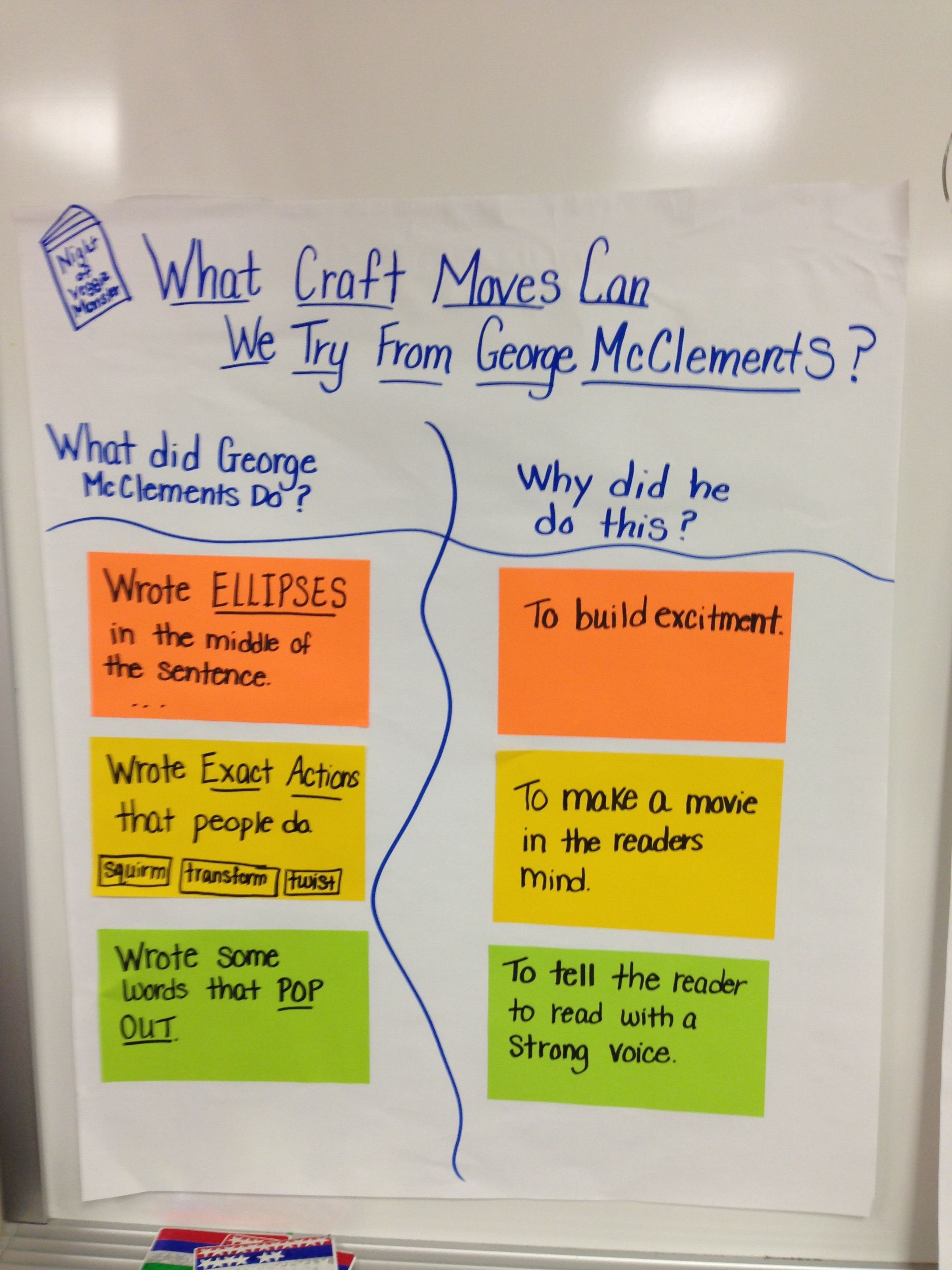 Craft Moves Writing Workshop Writing Lessons Narrative Writing Transforming simple writing lesson