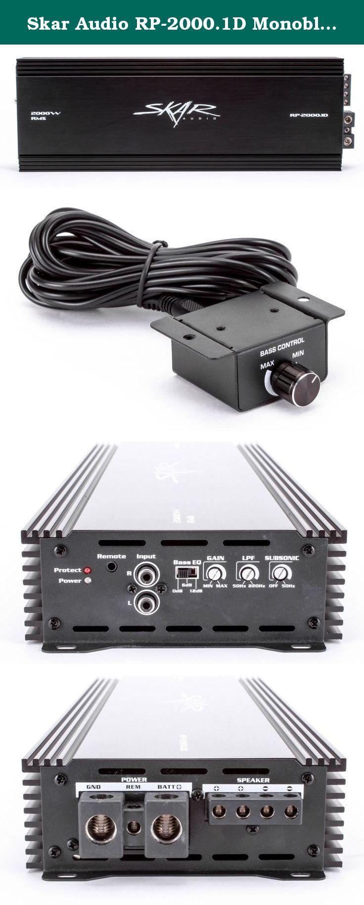 Skar Audio Rp 20001d Monoblock 2000 Watt Class D Mo Mono Car Stereo Kit 800w Sub 500w 2 Channel Amplifier Capacitor Wiring Mosfet Subwoofer