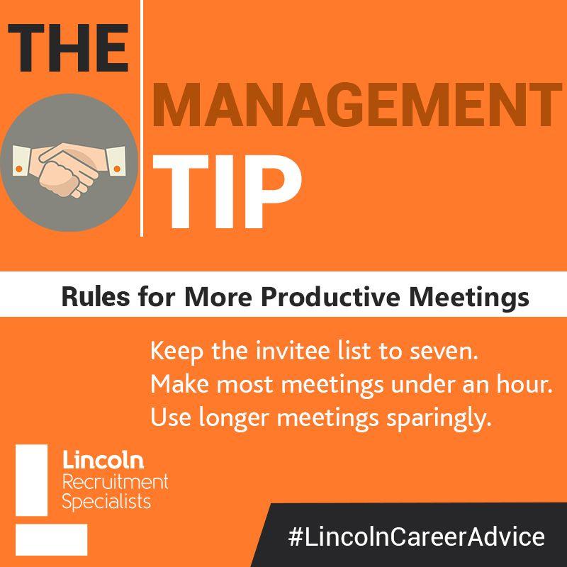 management tip careeradvice meetings Job hunting