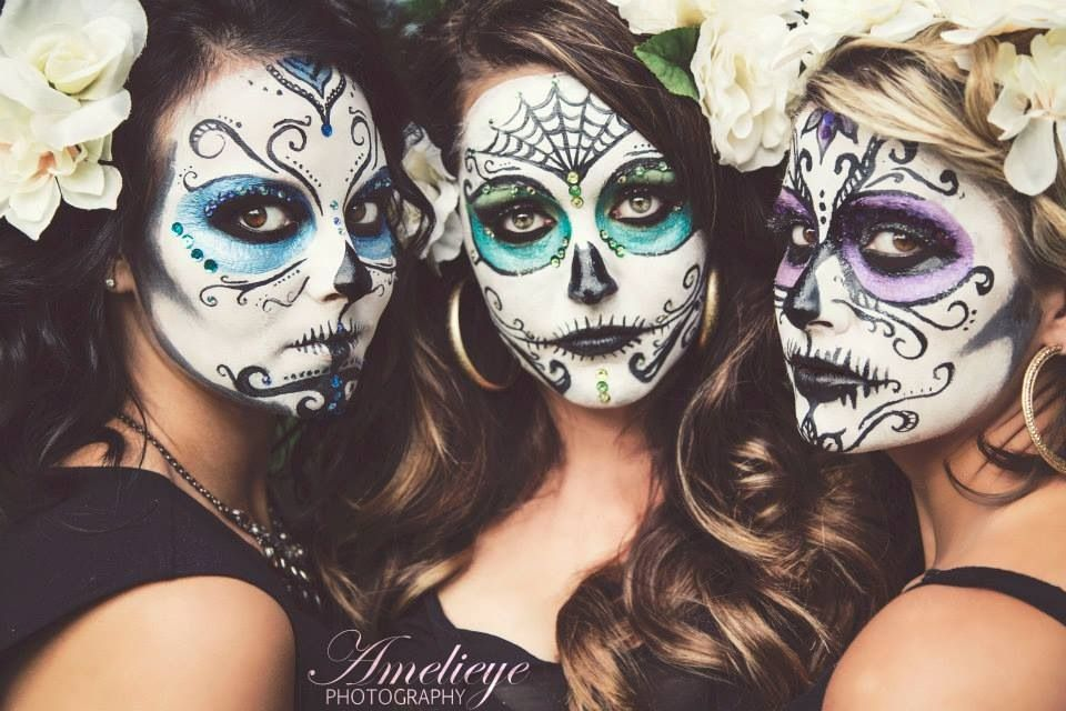 Day of the dead dolls so cool!!! I like the purple one but it\u0027d look - halloween costume ideas for the office
