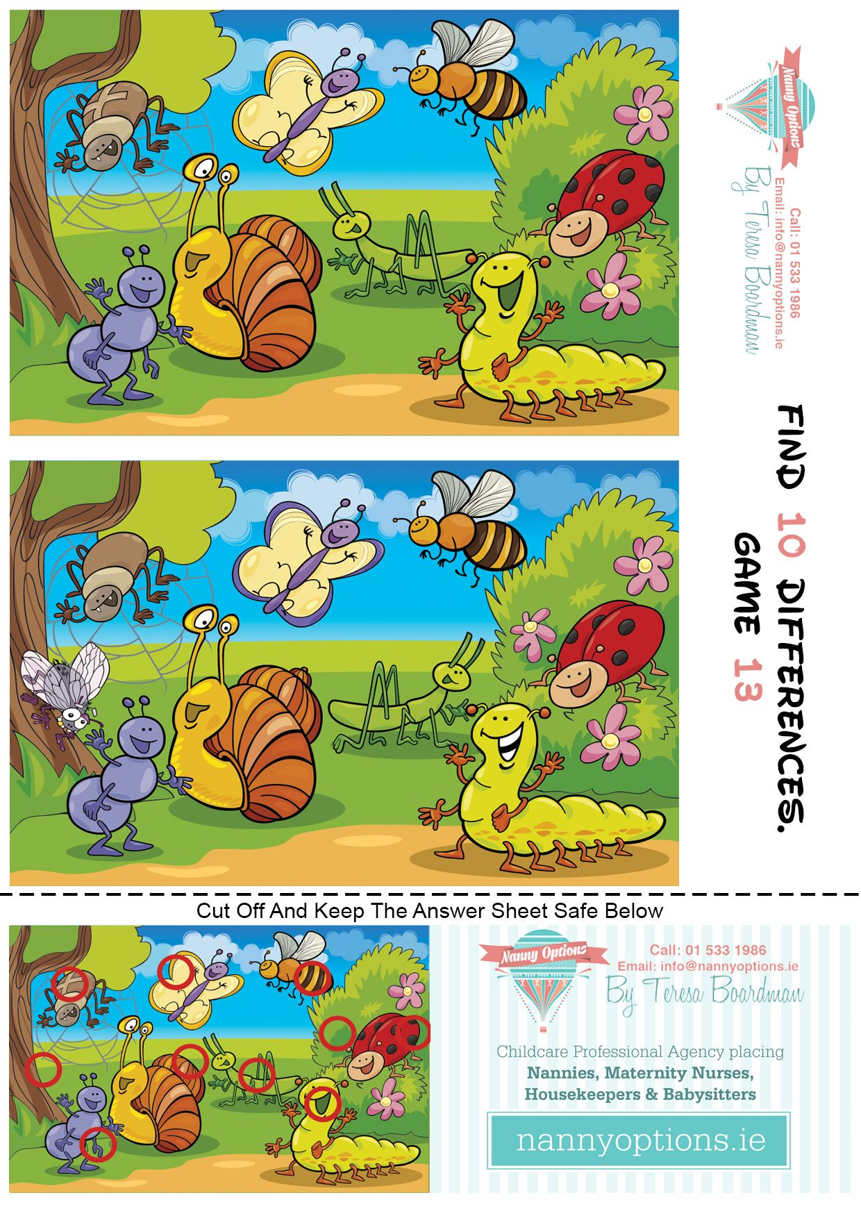 Find 10 Differences 13 Curated By S