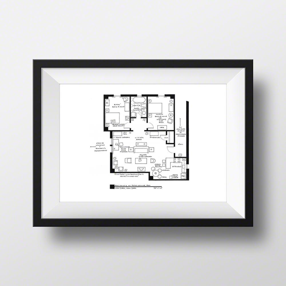 Friends Ross Geller Apartment Floor Plan Google Search In 2020 Apartment Floor Plan Floor Plans Unique Wall Decor