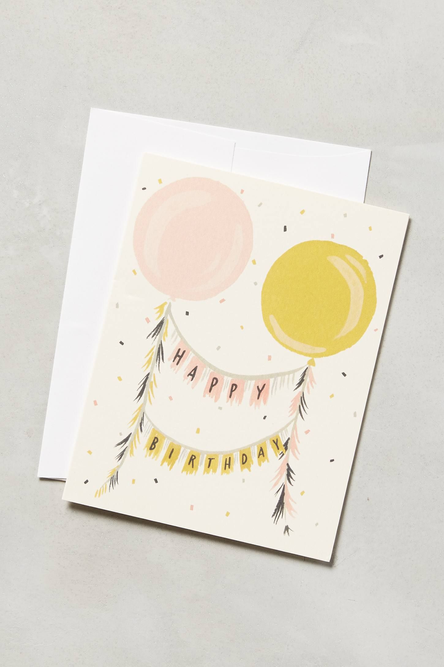 Floating garland birthday card garlands