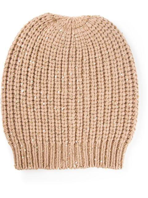 36d6ec171f Купить Brunello Cucinelli шапка-бини с пайетками в Spinnaker 101 Farfetch  предлагает товар из лучших независимых бутиков со всего мира.