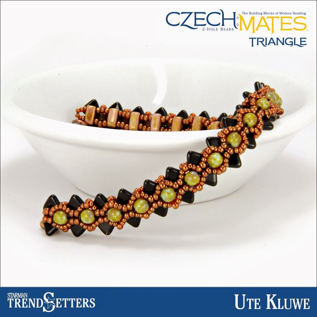 CzechMates Triangle bracelet by Starman TrendSetter Ute Kluwe