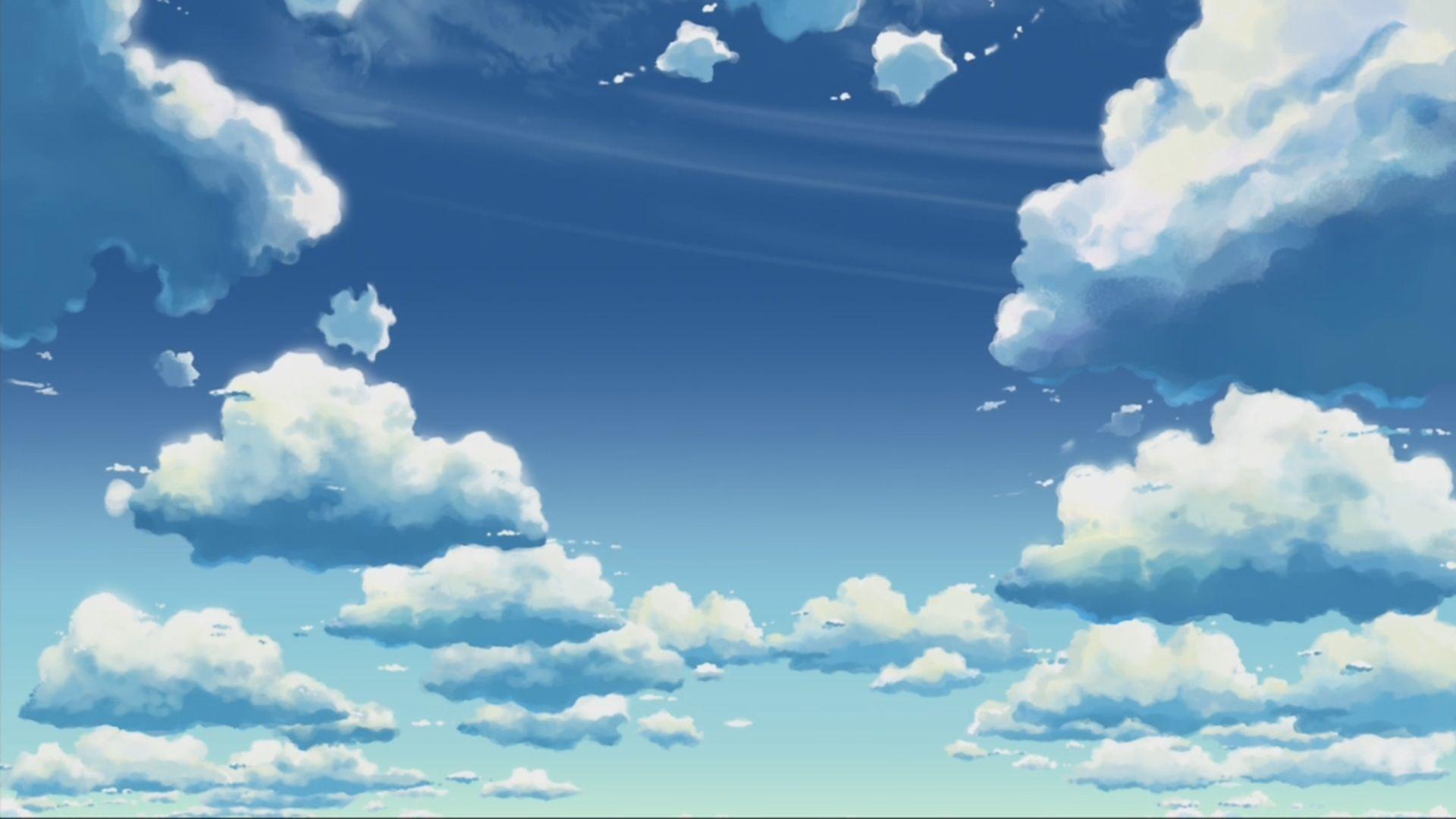 Anime Scenery wallpaper imagens) Cenario, Nuvem, Anime
