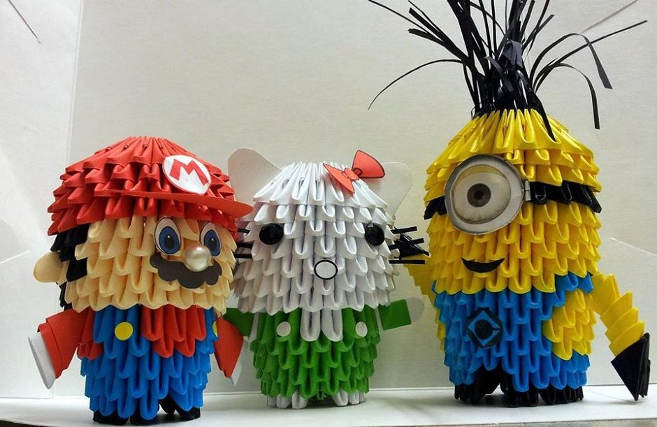 Famous Cartoons Come To Life Through Origami 3d Pinterest