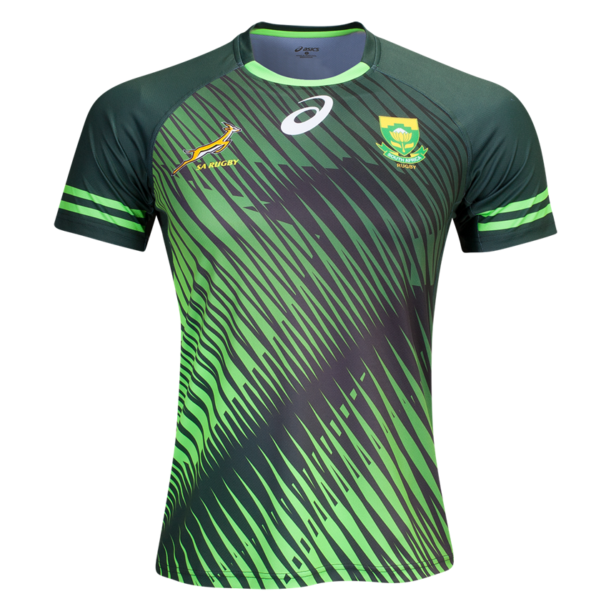 ef8a03d5c42 South Africa Springboks 16/17 Sevens Home Rugby Jersey | Shop your favorite  national rugby team's jerseys and apparal at WORLDRUGBYSHOP.COM