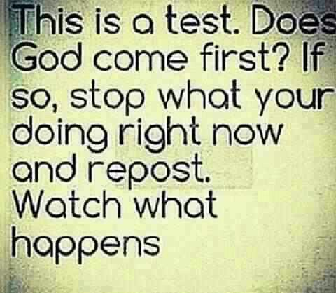 God is first!!!